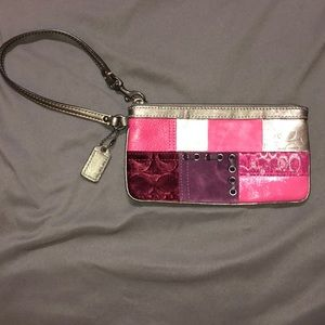 Coach multicolored wristlet